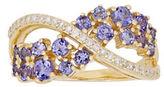 Lord & Taylor Diamonds, Tanzanite and 14K Yellow Gold Ring