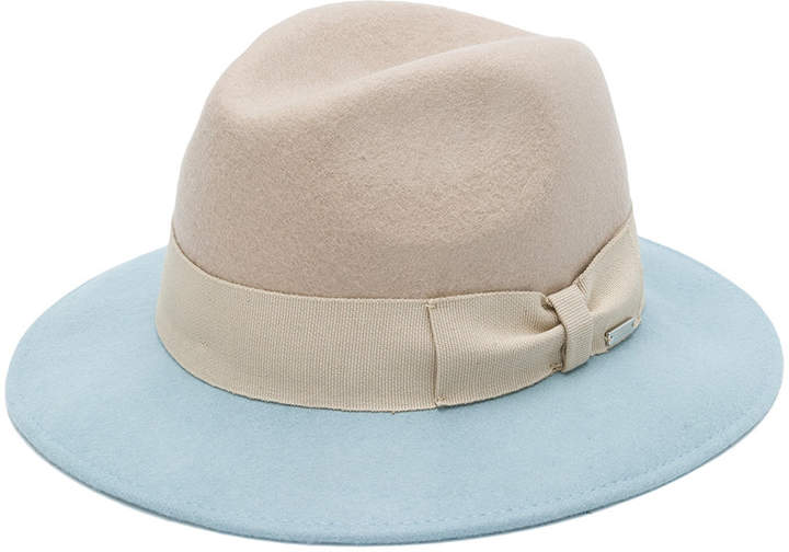 Woolrich bow-detailed two-tone fedora
