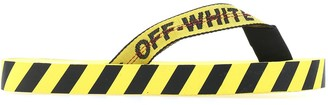 Off-White Diagonal Print Flip Flops