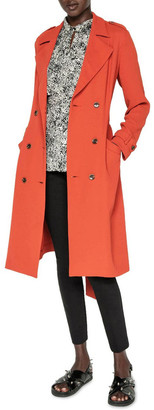 Cue Terracotta Crepe Trench