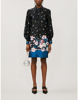 Erdem Michela floral-print silk mini dress