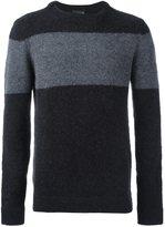 Emporio Armani stripe detail sweater