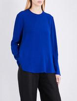 Antonio Berardi Loose-fit crepe-satin blouse