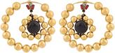 Marni Metallic-gold double-hoop earrings