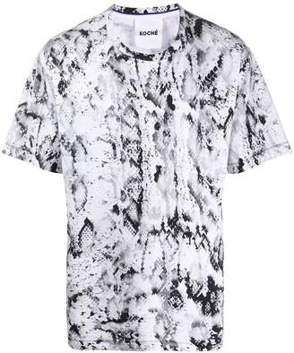 Koché python print T-shirt