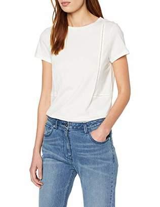 Off-White Yargıcı Womens 9YKTS9014X Round Collar Short Sleeve T - Shirt Small
