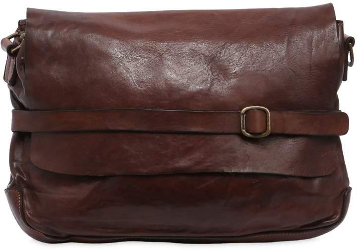 Campomaggi Vintage Effect Leather Messenger Bag