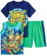 Nannette Ninja Turtles T-Shirt, Tank Top & Shorts Set, Toddler & Little Boys (2T-7)