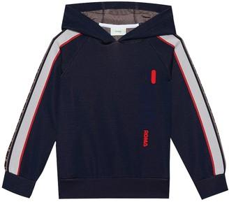 Fendi Kids FENDI MANIA cotton-blend hoodie