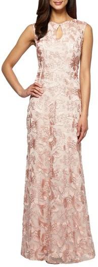 Alex Evenings Women's Mesh Gown