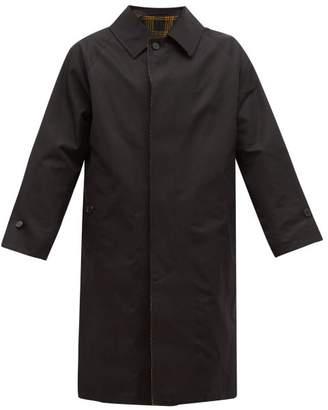MACKINTOSH Carbeth Reversible Rubberised Cotton Trench Coat - Mens - Black
