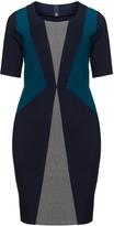 Manon Baptiste Plus Size Colour block pencil dress