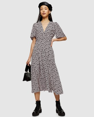 Topshop Angel Sleeve Midi Dress