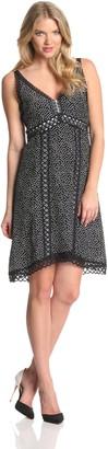 Nanette Lepore Women's Daring Dot Silk Polka Dot Sleeveless Dress