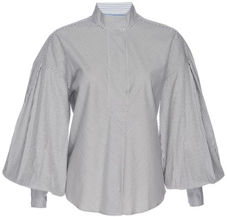 Frame Bishop Sleeve Popover Shirt