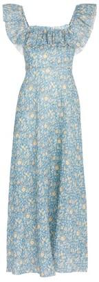 Zimmermann Carnaby Floral Ruffled Dress