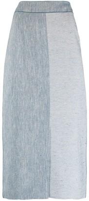 Agnona High-Waisted Panelled Skirt