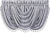 "J Queen New York Colette Silver 33"" x 49"" Waterfall Window Valance Bedding"