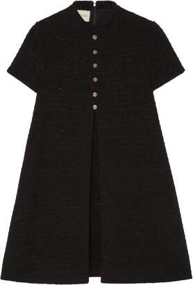 Gucci Box-Pleat Tweed Dress