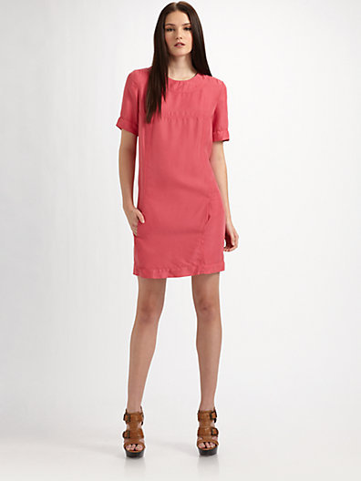 Burberry Washed Silk Shift Dress