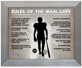 "Steiner Sports Man Cave Rules Original 11 x 14"" Framed Photograph"