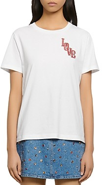 Sandro Loven Embroidered T-Shirt