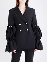 Ellery Double-breasted crepe jacket