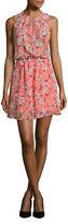 Bb Dakota Floral-Printed Chiffon Dress