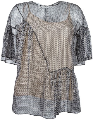 Stella McCartney Circle Star Flounce Blouse