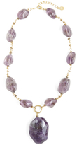 Brooks Brothers Amethyst Pendant Necklace