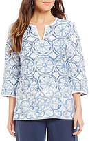 Tommy Bahama Water Color Tiles Tunic