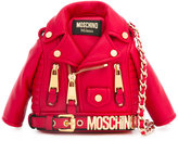 Moschino shrunken biker jacket bag - women - Leather/metal - One Size