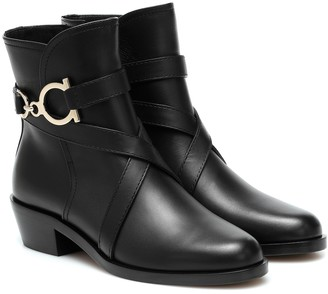 Salvatore Ferragamo Shadi leather ankle boots