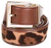 Dolce & Gabbana Ponyhair Buckle Belt