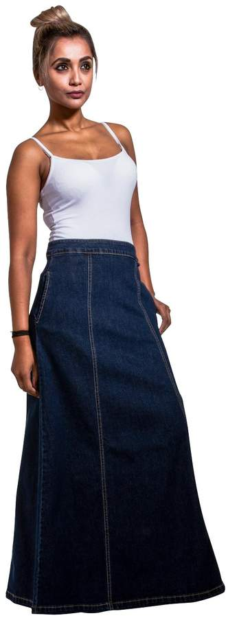 b2351ef5d Long Denim Jean Skirts - ShopStyle Canada