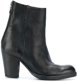 Sartori Gold Block Heel Ankle Boots