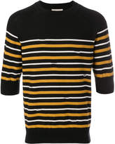 MAISON KITSUNÉ shortsleeved striped sweater
