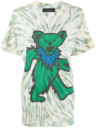 Amiri graphic print tie dye T-shirt