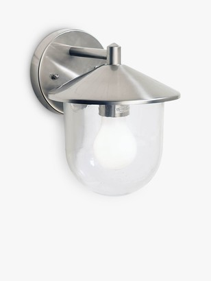 Dar Poole Outdoor Wall Light, Stainless Steel