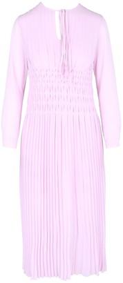 Maje Rocket Pleated-Chiffon Midi Dress