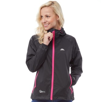 Trespass Womens Qikpac Waterproof Jacket Black