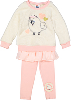 Children's Apparel Network White Gidget Ruffle Pullover & Pants - Toddler & Girls