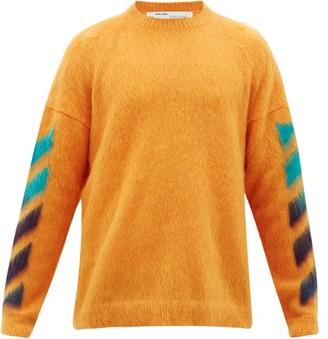Off-White Arrow-intarsia Mohair-blend Sweater - Orange