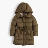 J.Crew Girls' tie-front puffer jacket