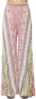 Missoni Raschel Viscose Knit Lame Wide Leg Pants