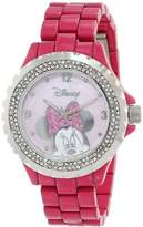 EWatchFactory Disney Women's 56270-1C Minnie Mouse Pink Enamel Sparkle Watch