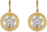 Cathy Waterman Women's Lacy Flower Drop Earrings