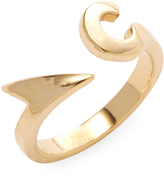 Miansai Women's Hook Ring, Gold Plated, Polished