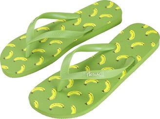 Aerusi Ocean Corte Series Banana Flip Flop Outdoor Sandals Women's Size 9.5 t0 10.5