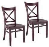 Wanamaker Solid Wood Side Chair Charlton Home Color: Dark Mahogany